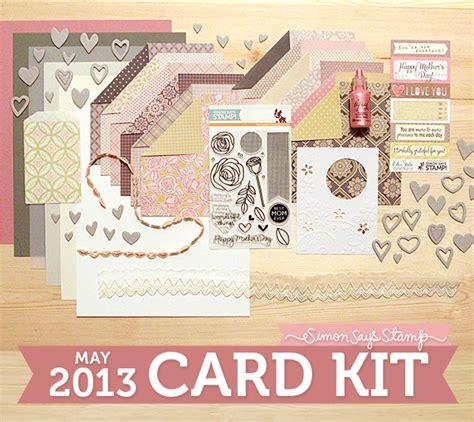 card kits simon says st may 2013 card kit reveal