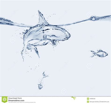 what are water made of water shark stock image image of fear blended