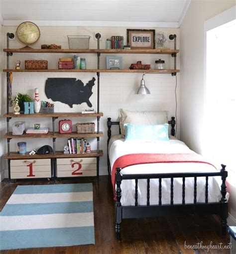 small boys bedroom ideas industrial shelves for a boy s room industrial boys
