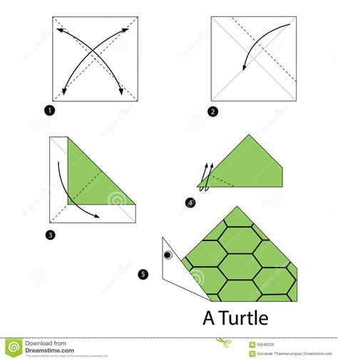 how to make an origami turtle step by step step by step how to make origami turtle