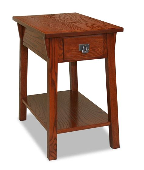 small end tables living room leick bin pull narrow chairside end table candleglow