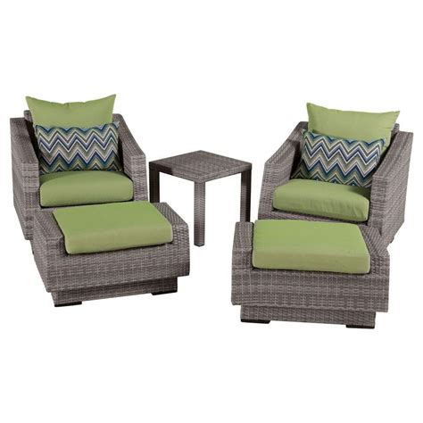 patio chair and ottoman set rst brands cannes 5 patio club chair and ottoman set