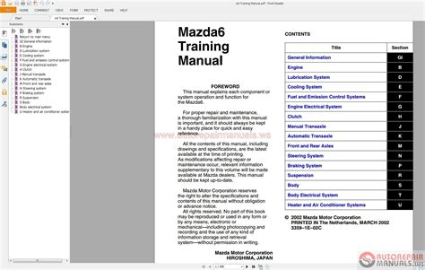 mazda 6 2002 2007 service repair manual by hong lii issuu mazda6 gg gy gg1 2002 2007 service manuals auto repair manual forum heavy equipment forums