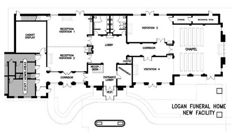 funeral home floor plan layout family homeplans mibhouse