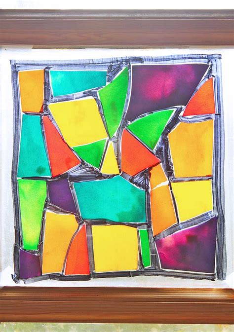 stained glass craft stained glass pasta family crafts