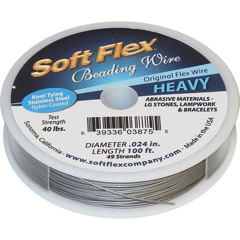 soft flex beading wire soft flex stainless steel beading wire 0 024 quot 49 strand