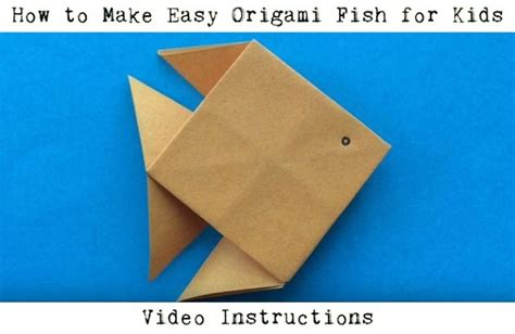 make origami fish easy origami for animals with