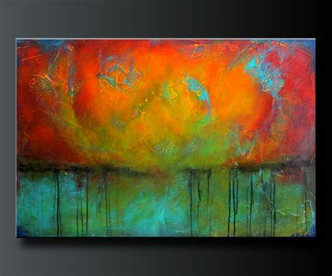 acrylic paint abstract oxidized metal 4 36x 24 acrylic abstract painting highly