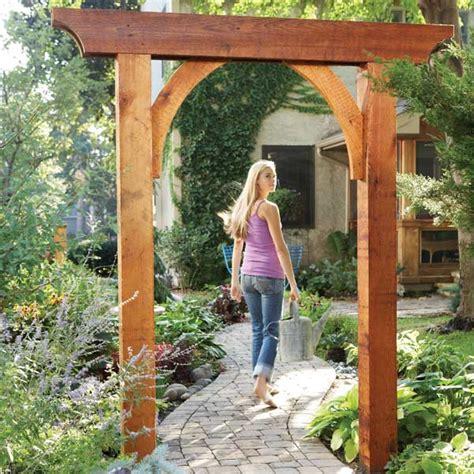 Garden Arbor With Gate Kit Build A Garden Arch Garden Arches Walkways And Pergolas