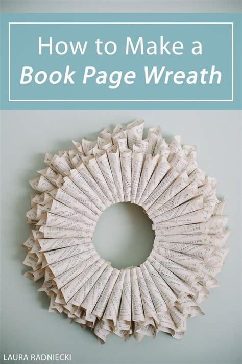 how to make a page how to make a book page wreath a diy tutorial
