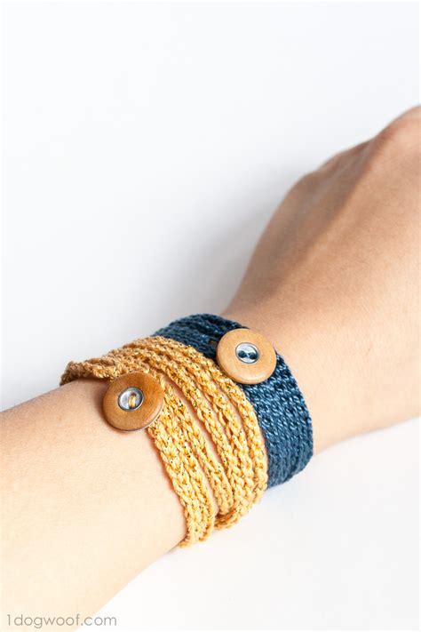 crochet bracelets with crochet wrap bracelet with button friendship bracelets