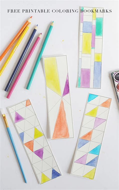 printable paper crafts for adults and loisfree printable coloring bookmarks