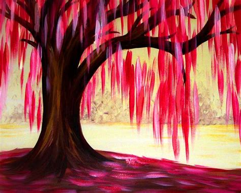 paint nite jersey city pink willow tree paint nite june 16 2016 at uno