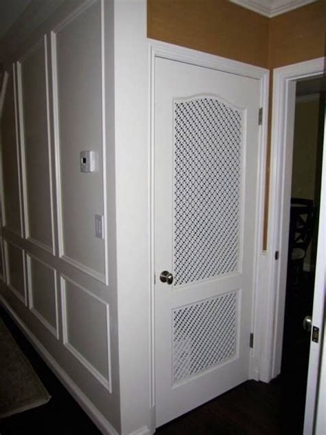 vented closet doors what a cool idea custom vent panels for a pantry door