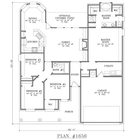 one story house plans with 4 bedrooms 4 bedroom