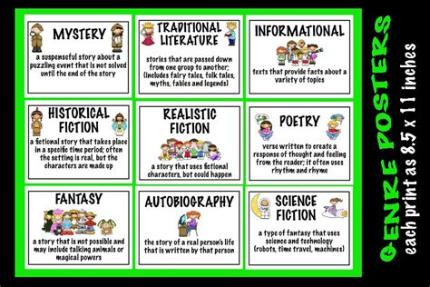 picture book genres 5 best images of free printable book genre labels book