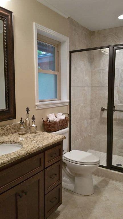 beige tile bathroom ideas traditional 3 4 bathroom with kensington series beige porcelain tile high ceiling flat panel