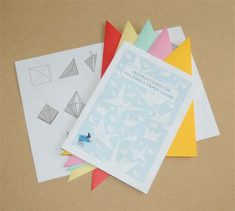 post it origami crane the pack contains 5 sheets of origami paper and