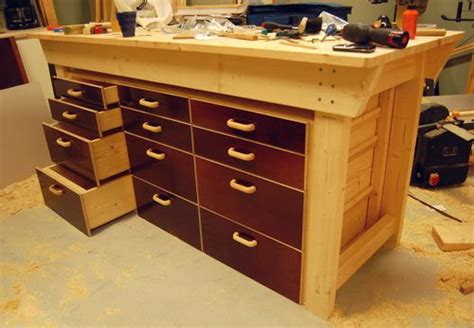 woodworking drawers woodwork workbench drawers plans pdf plans