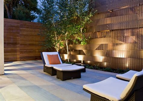 garden patio lighting garden fence lighting ideas patio contemporary with wicker
