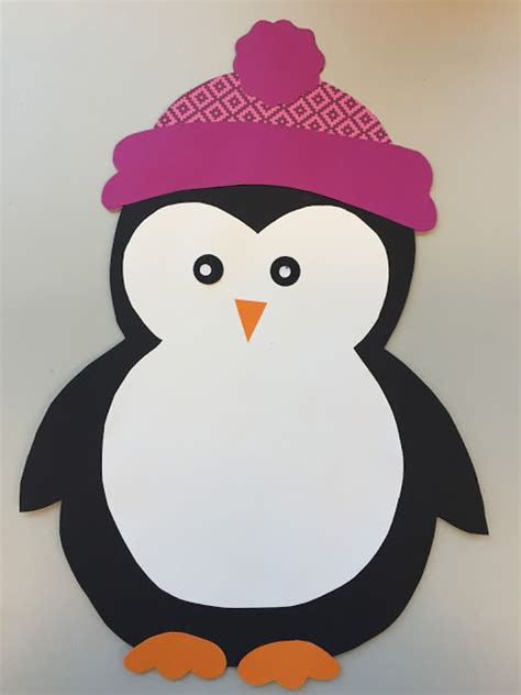 penguin paper craft penguin paper craft template klassenkunst