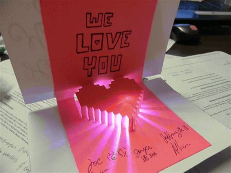 how to make 3d mothers day cards and project light up pop up card for