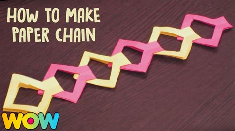 how to make craft how to make paper chain paper crafts easy diy