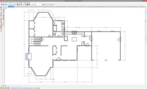 floor plan with sketchup 2d drawing in sketchup popular woodworking magazine