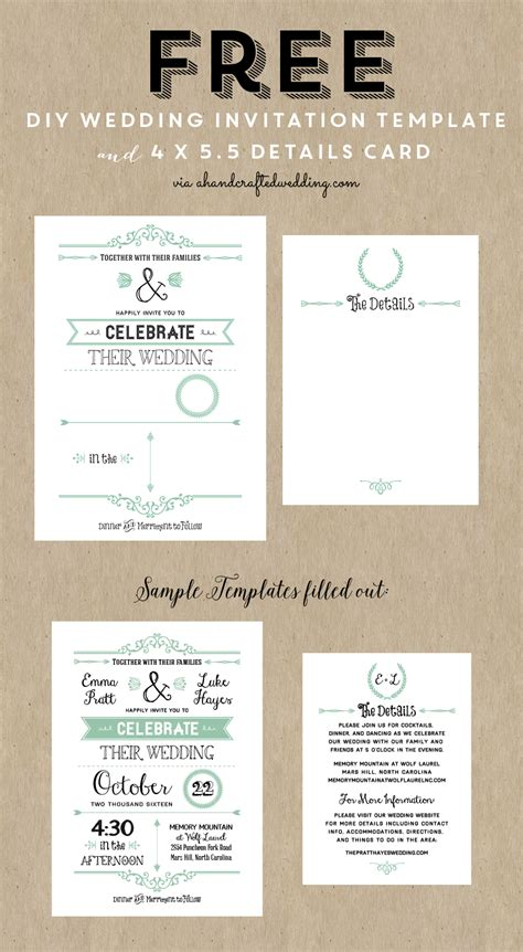 make marriage invitation card free diy wedding invitation templates theruntime