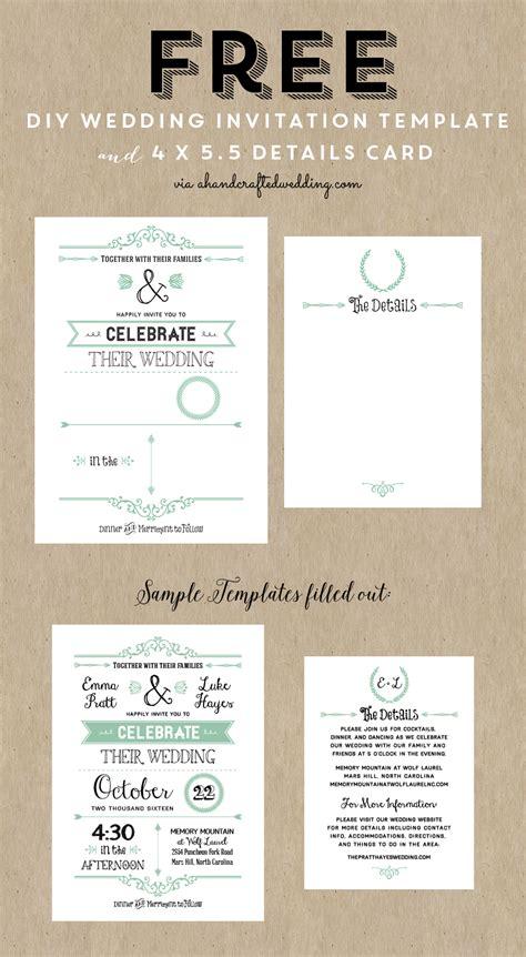 make a invitation card free diy wedding invitation templates theruntime