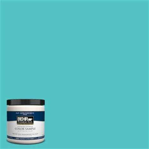 turquoise paint colors home depot behr premium plus 8 oz 500b 4 gem turquoise interior