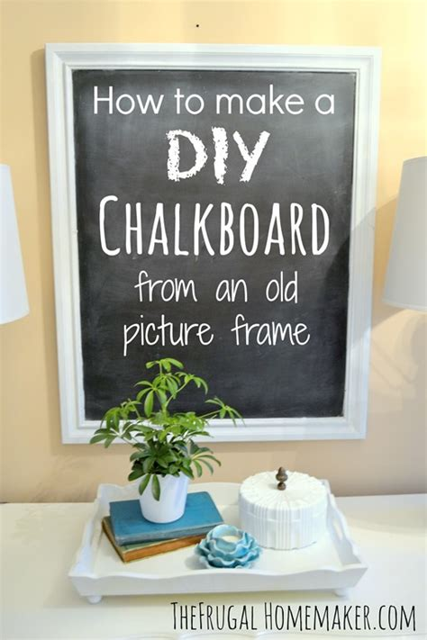 diy chalkboard print how to make a diy chalkboard from an picture frame