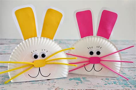 easter bunny paper plate craft hop into some craft activities with the this easter