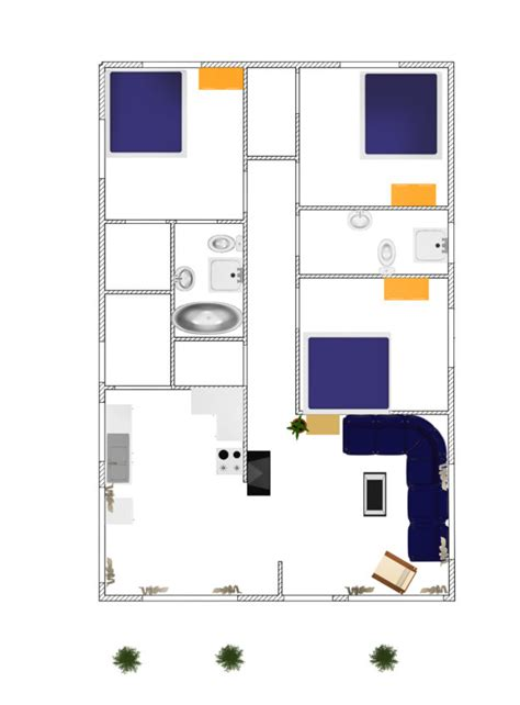 3d house plans free 3d small house plane idea 102 free form dwg net