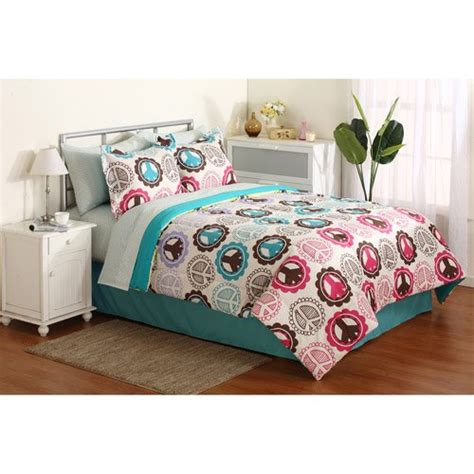 peace sign comforter sets pink purple lime green teal peace sign comforter