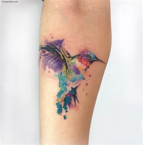 aqua bird tattoos