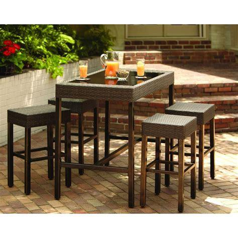 high patio dining set hton bay tacana 5 patio high bar dining set