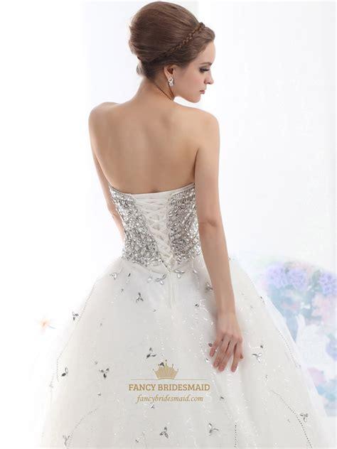 heavily beaded wedding dress ivory strapless heavily beaded bodice tulle gown