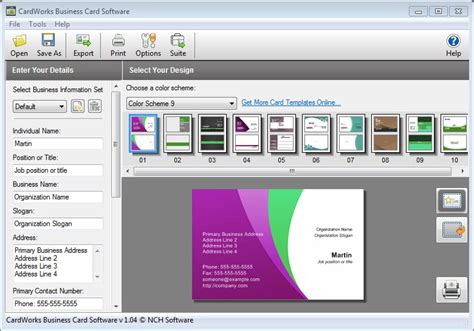program to make business cards create business cards with cardworks business card
