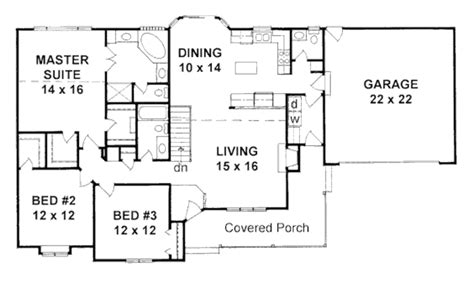 2 bedroom ranch house plans ranch style house plan 3 beds 2 50 baths 1586 sq ft plan 58 167