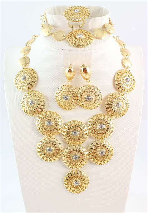 how to make gold plated jewelry gold plated necklace bracelet ring earring sets