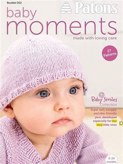 patons baby knitting books patons baby moments knitting crochet book 002