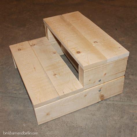 diy step up box simple kid s diy 2x4 wooden step stool beckham