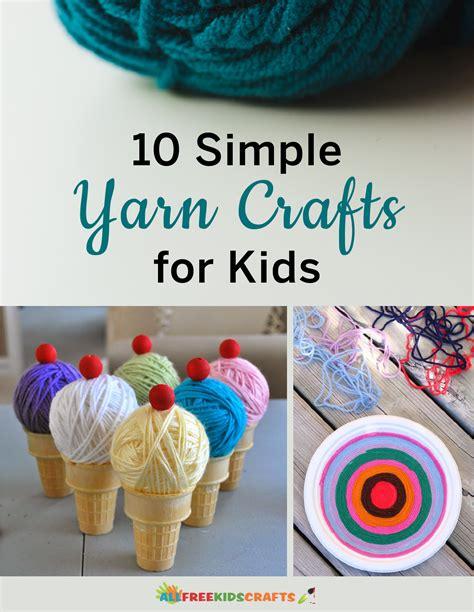 easy yarn crafts for easy popsicle stick crosses allfreekidscrafts