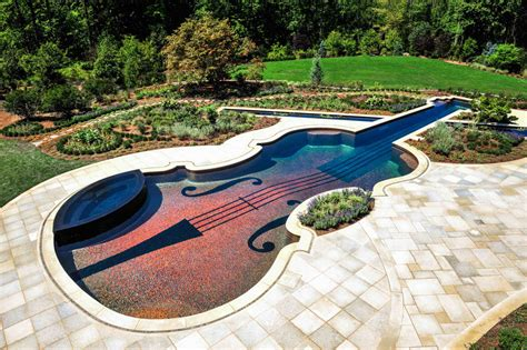 amazing backyard pools amazing stradivarius violin swimming pool creates backyard
