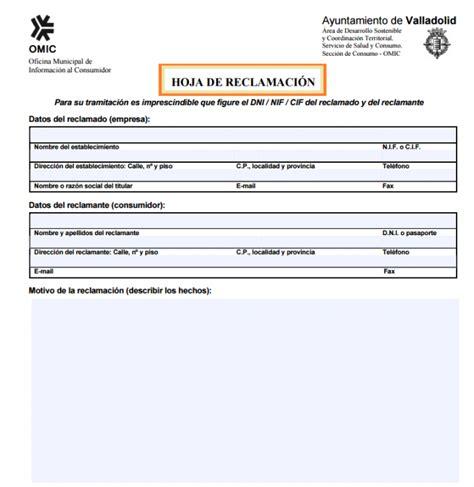 oficina del consumidor comunidad de madrid c 243 mo rellenar una hoja de reclamaciones cursosinemweb es