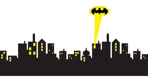 5 sizes gotham city skyline batman decal removable wall