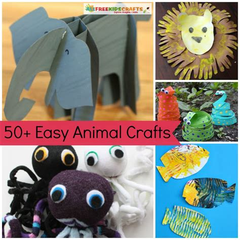 easy animal crafts for 61 preschool animal crafts and more allfreekidscrafts
