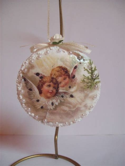 decoupage ornaments decoupage joannay handmade by joannay