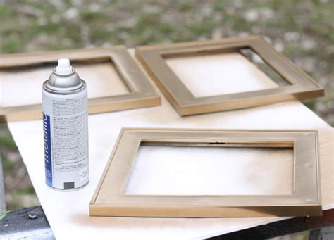 spray painting frames diy large chalkboard photo frame